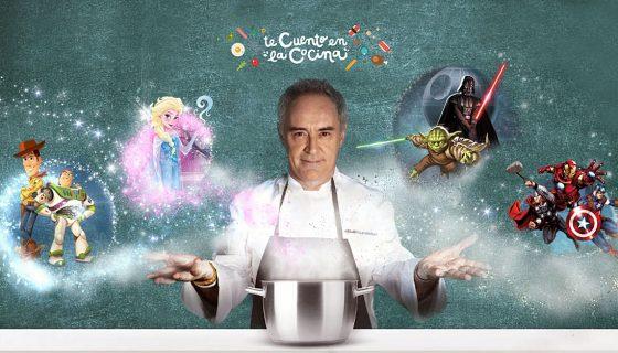 """Walt Disney Company y el reconocido chef Ferran Adriá, crean el cuento """"Te cuento en la cocina"""", para que los niños aprendan a comer sano"""